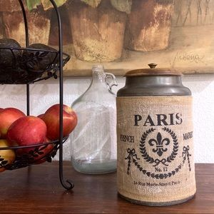 Modern French Vintage Farmhouse Style Canister